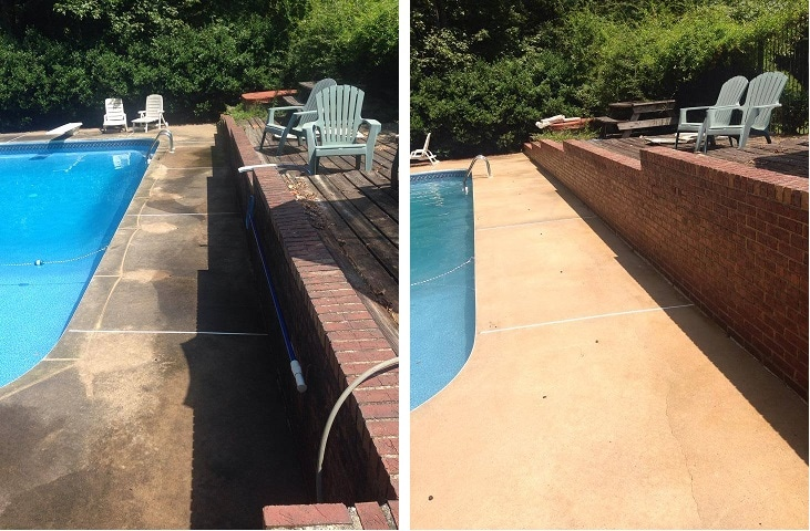 pool deck power washing